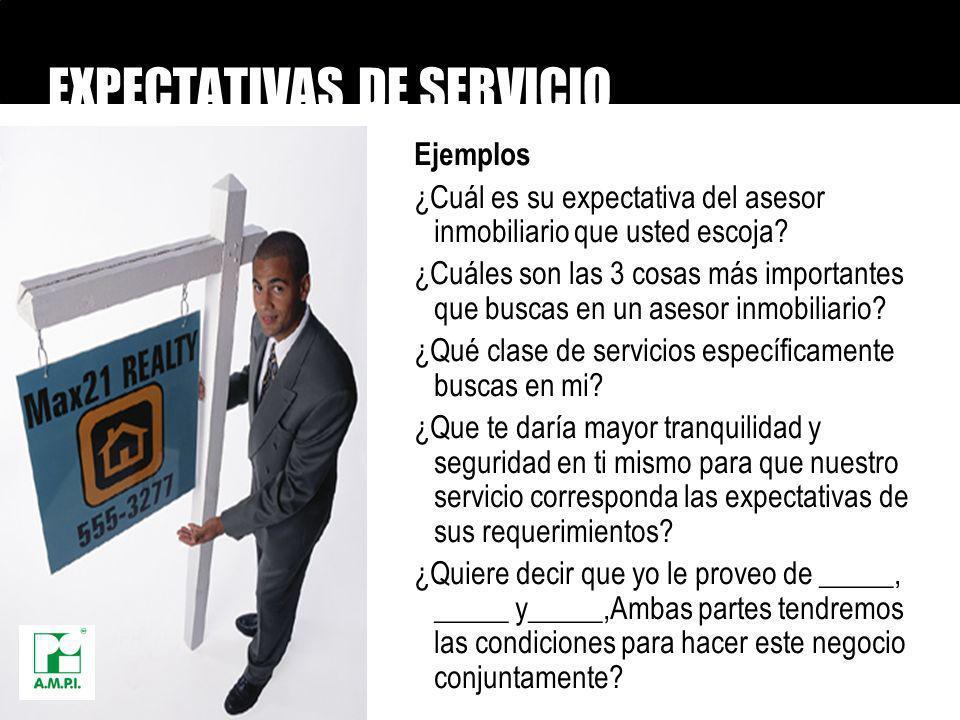 EXPECTATIVAS DE SERVICIO