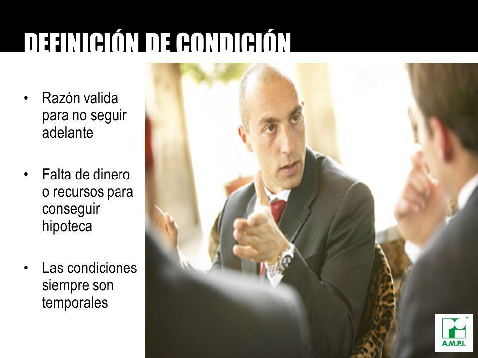 DEFINICIÓN DE CONDICIÓN