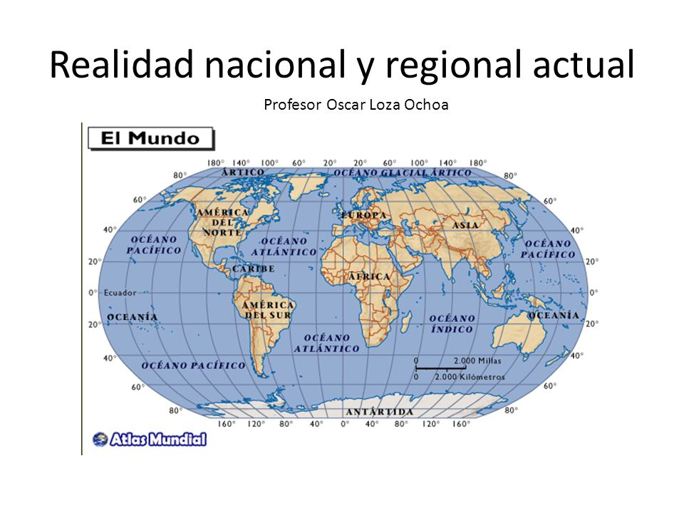 Realidad nacional y regional actual