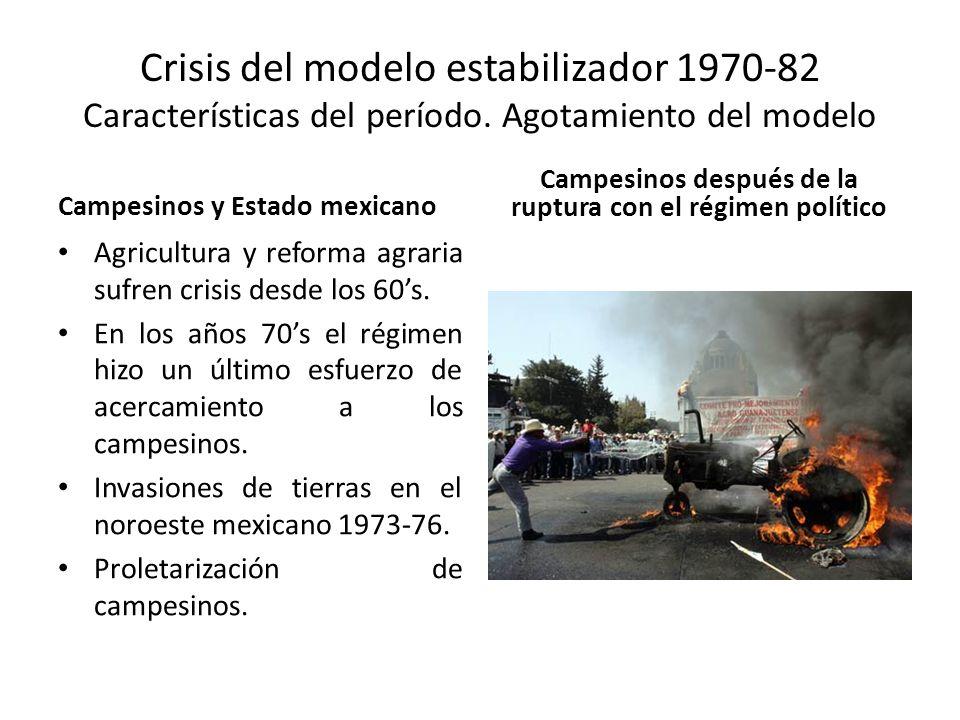 Campesinos después de la ruptura con el régimen político