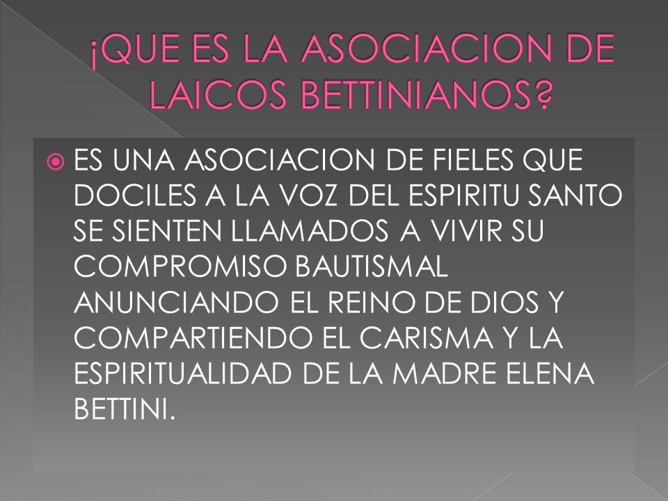 ¡QUE ES LA ASOCIACION DE LAICOS BETTINIANOS