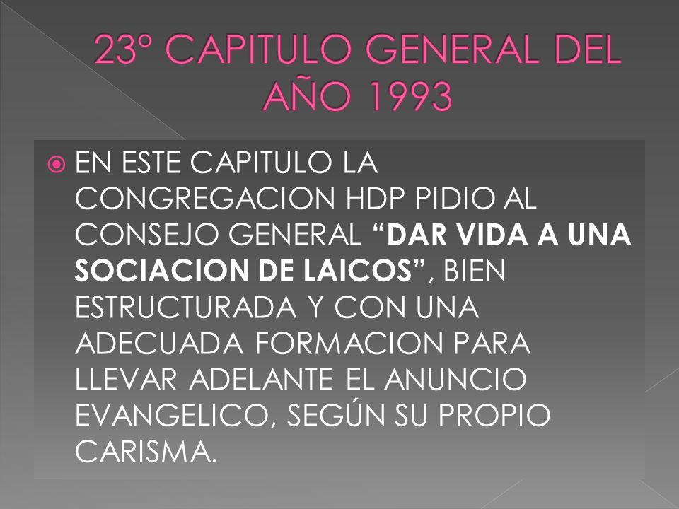 23° CAPITULO GENERAL DEL AÑO 1993