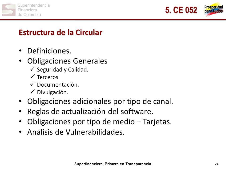 5. CE 052 Estructura de la Circular Definiciones.