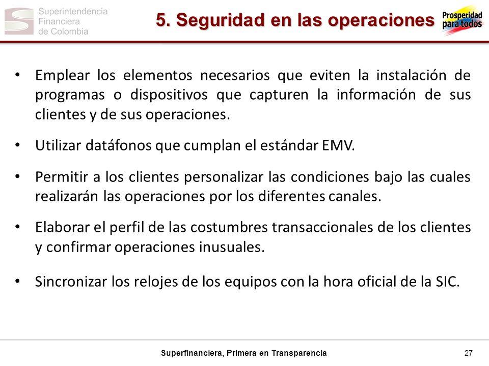5. Seguridad en las operaciones