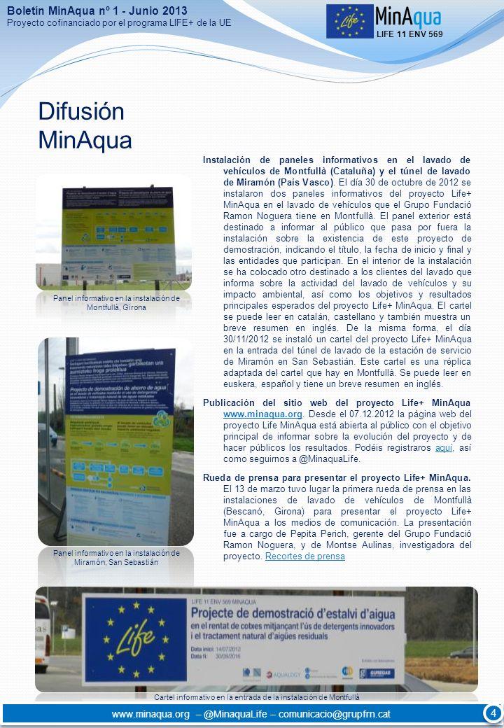 Difusión MinAqua Boletín MinAqua nº 1 - Junio 2013 4
