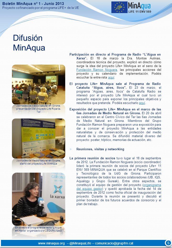 Difusión MinAqua Boletín MinAqua nº 1 - Junio 2013 5