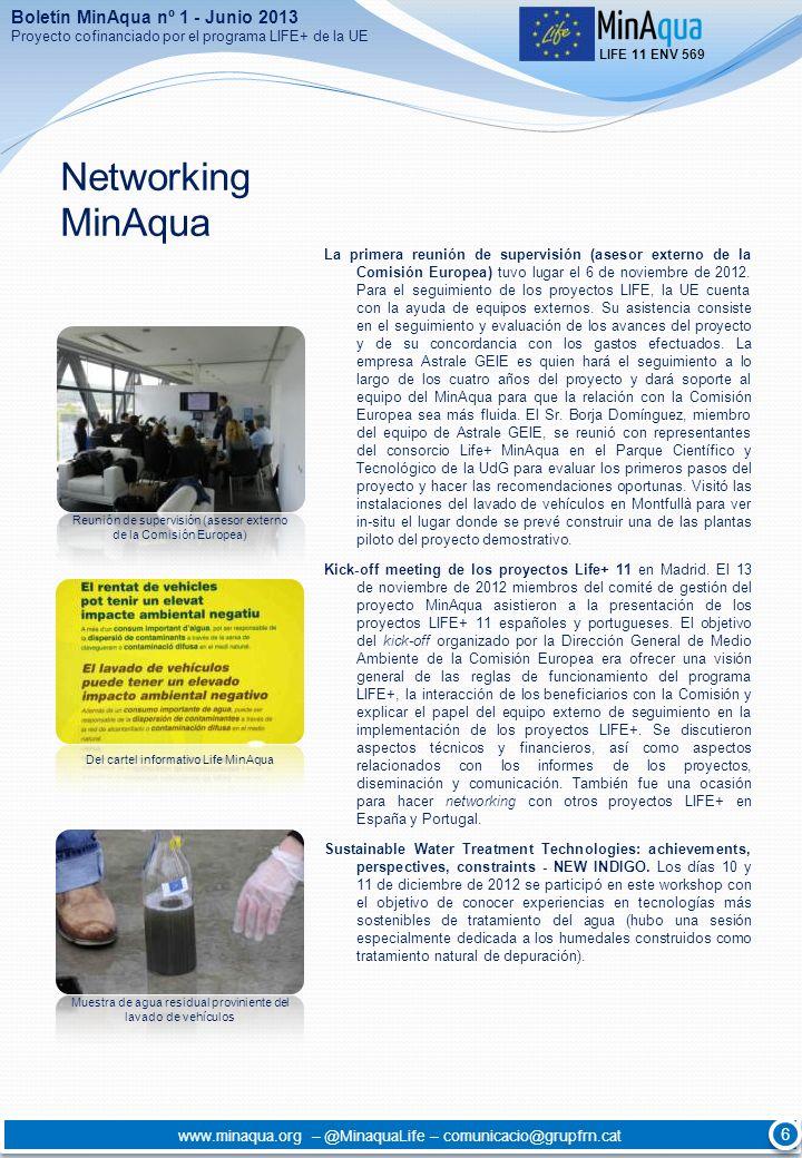 Networking MinAqua Boletín MinAqua nº 1 - Junio 2013 6