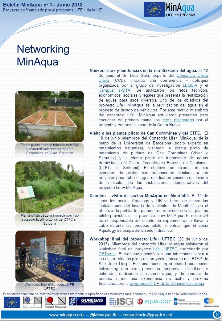 Networking MinAqua Boletín MinAqua nº 1 - Junio 2013 8