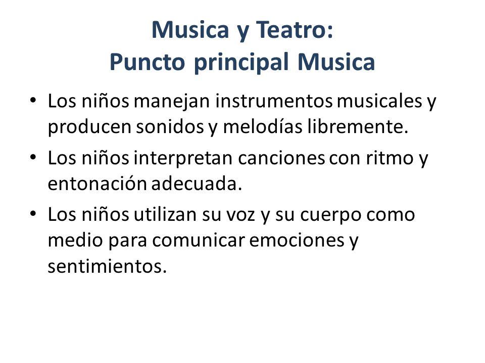 Musica y Teatro: Puncto principal Musica