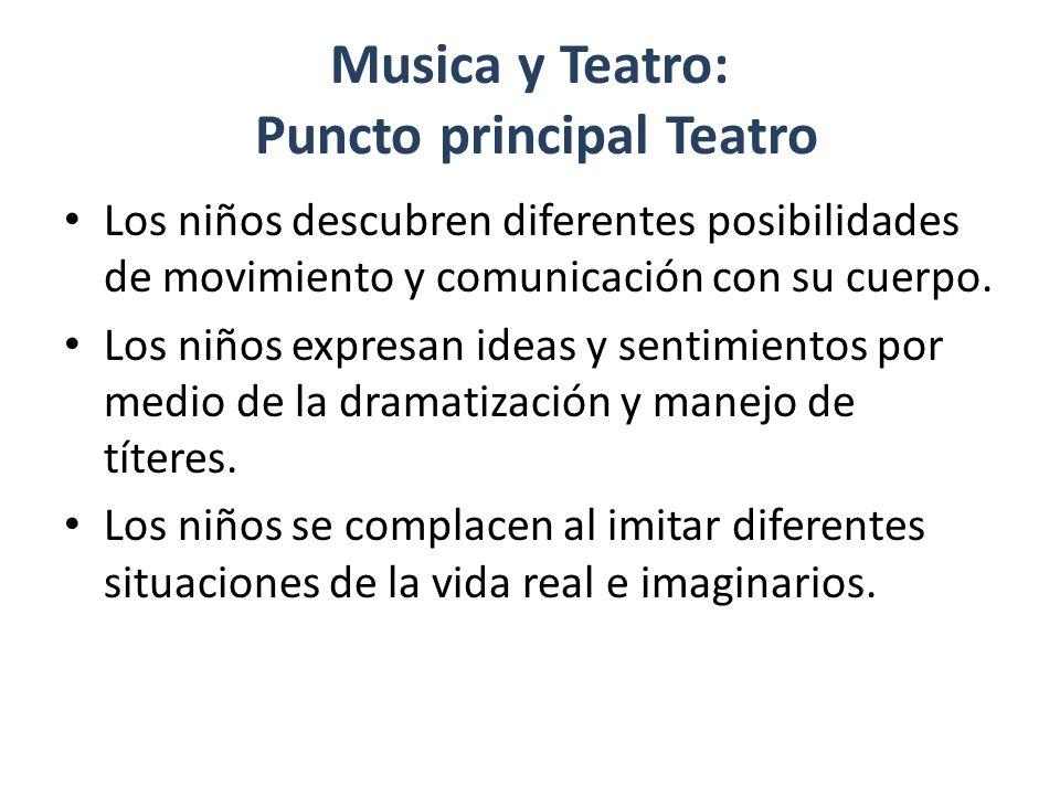 Musica y Teatro: Puncto principal Teatro