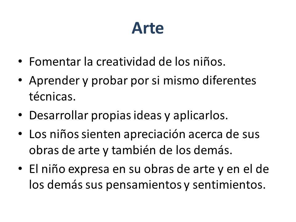 Arte Fomentar la creatividad de los niños.