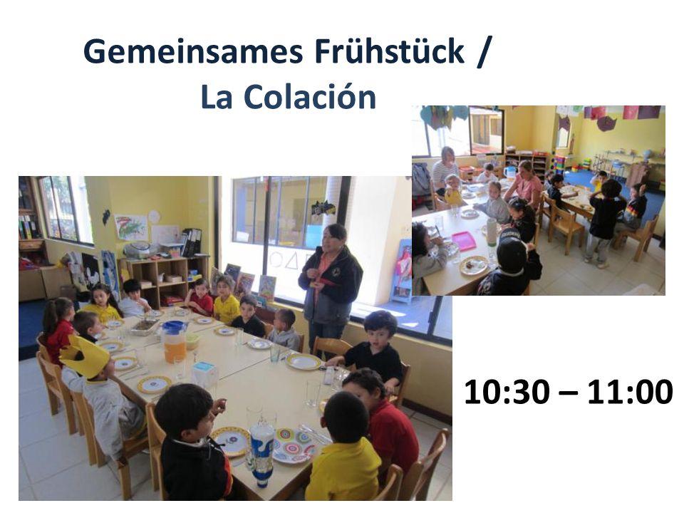 Gemeinsames Frühstück / La Colación
