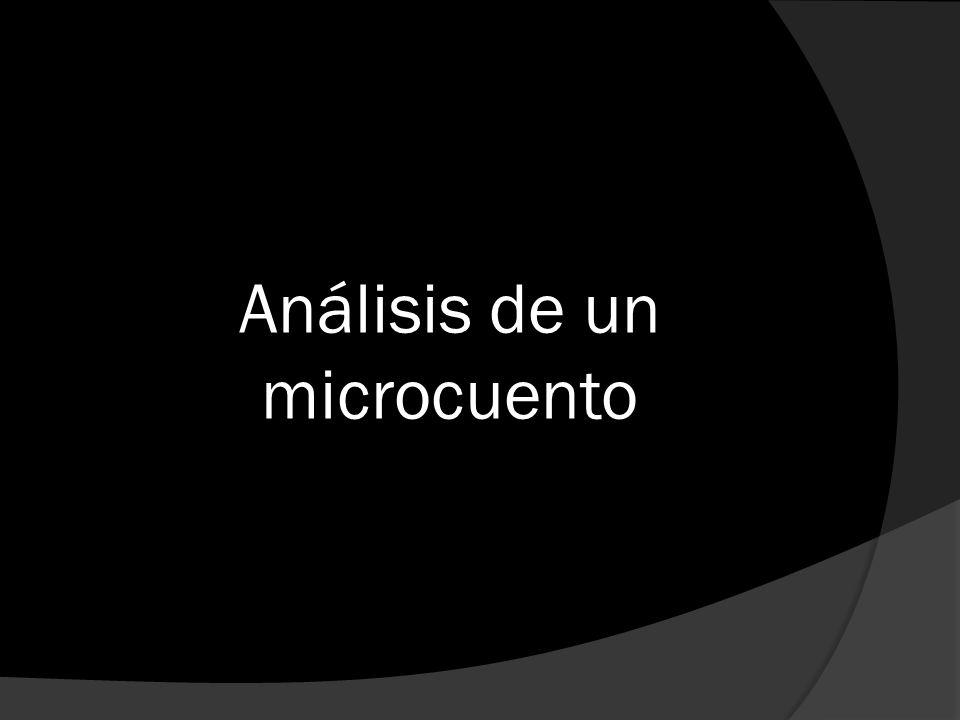 Análisis de un microcuento