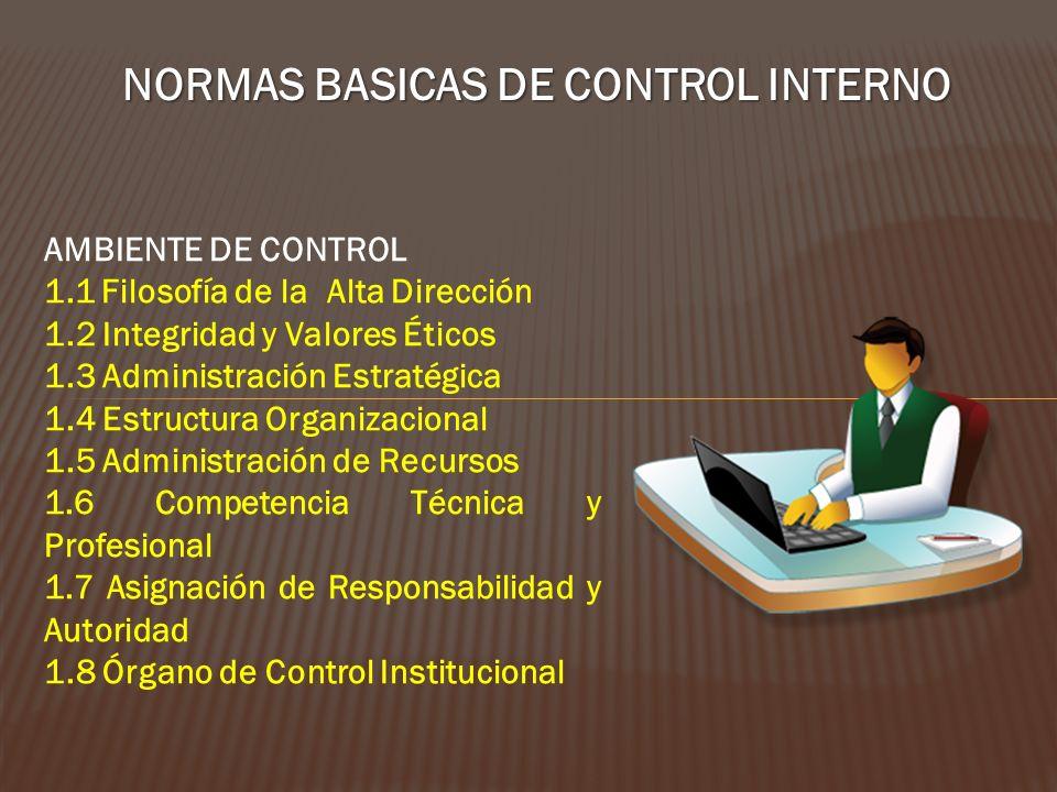 NORMAS BASICAS DE CONTROL INTERNO