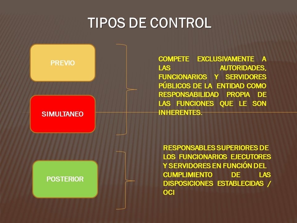 TIPOS DE CONTROL PREVIO