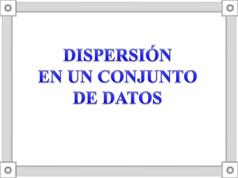DISPERSIÓN EN UN CONJUNTO DE DATOS