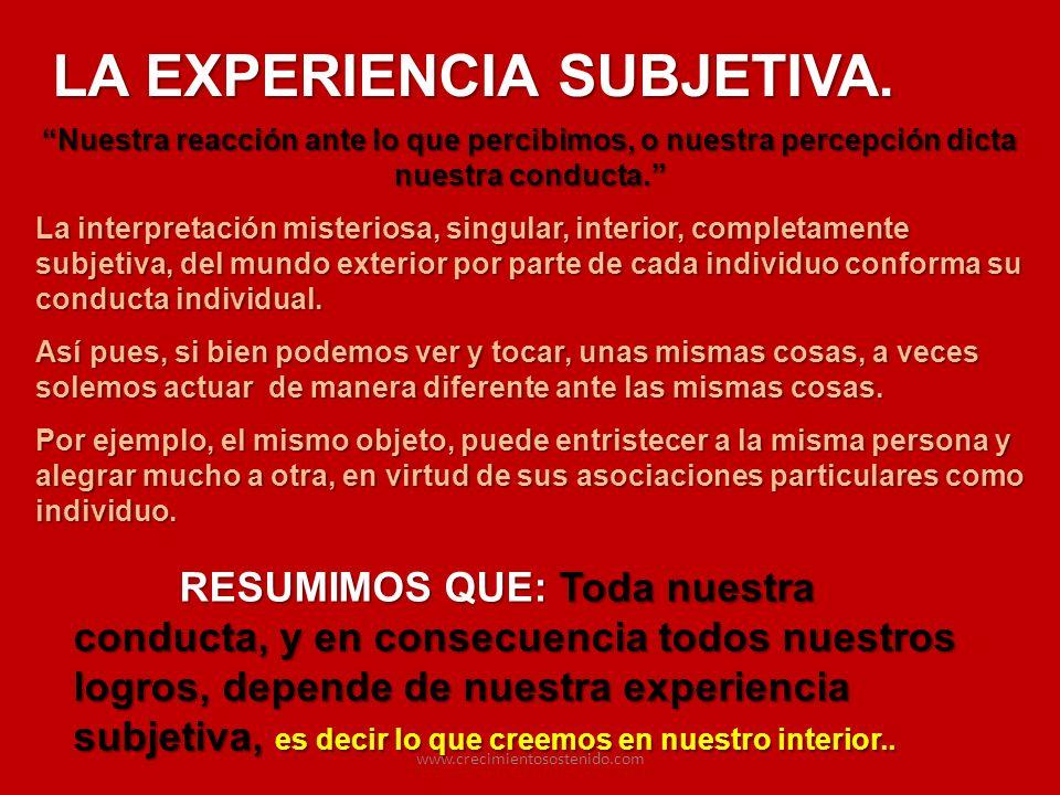 LA EXPERIENCIA SUBJETIVA.