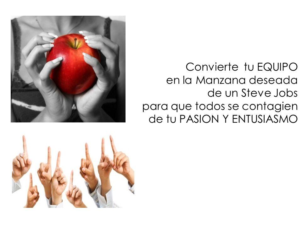 Convierte tu EQUIPO en la Manzana deseada. de un Steve Jobs.