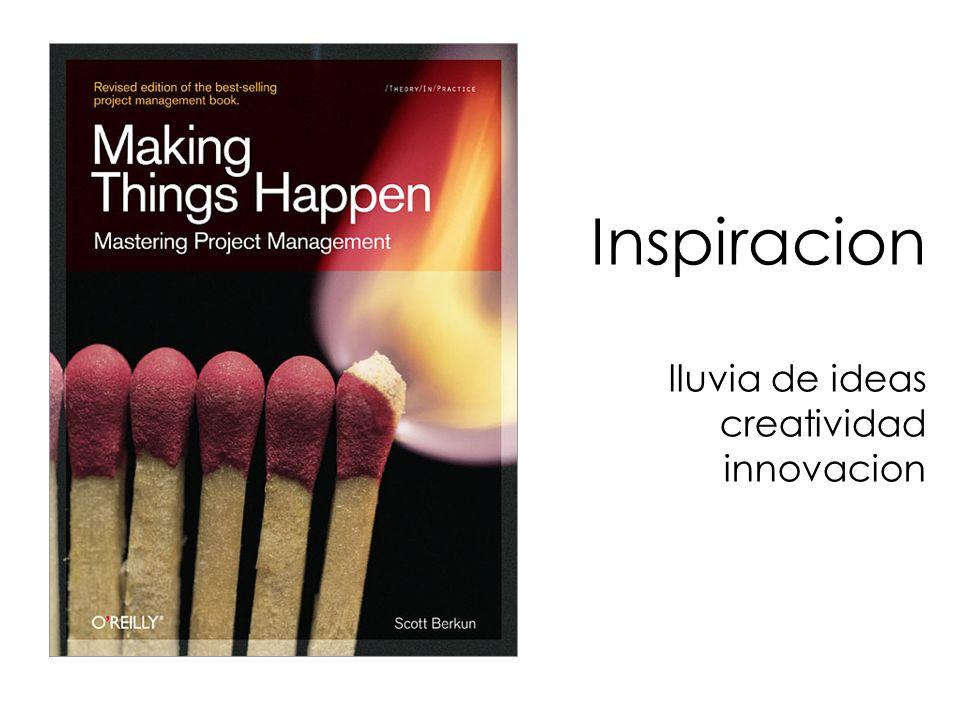 Inspiracion lluvia de ideas creatividad innovacion