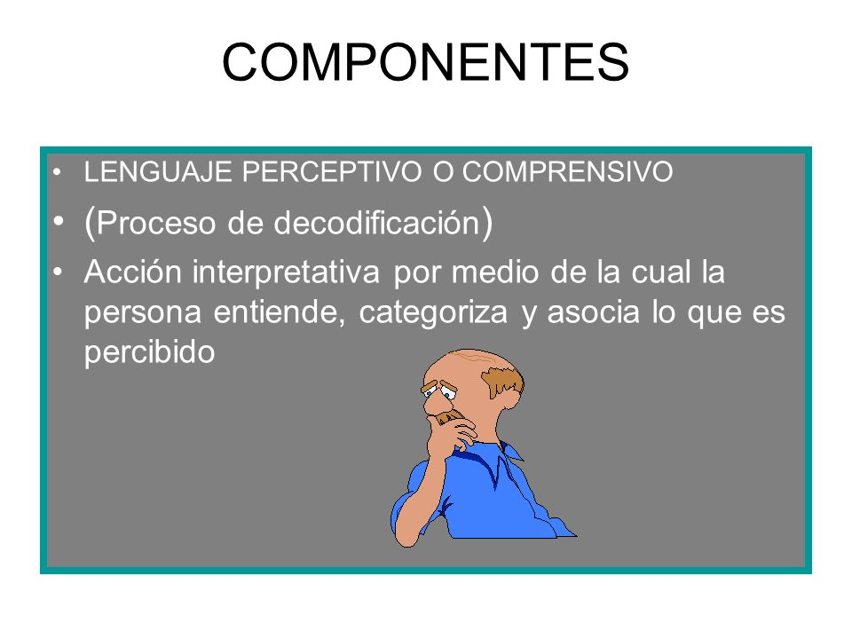 COMPONENTES (Proceso de decodificación)