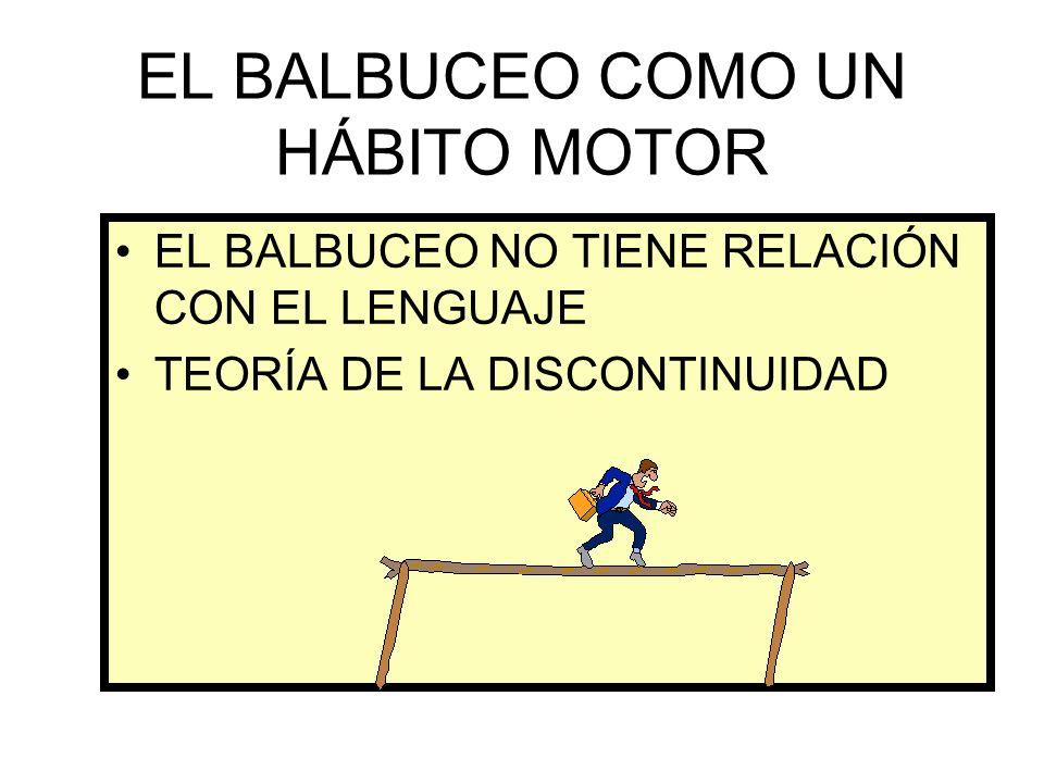 EL BALBUCEO COMO UN HÁBITO MOTOR