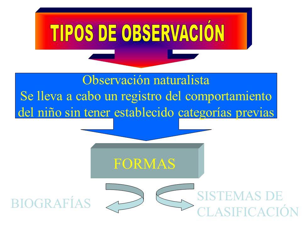 TIPOS DE OBSERVACIÓN FORMAS Observación naturalista