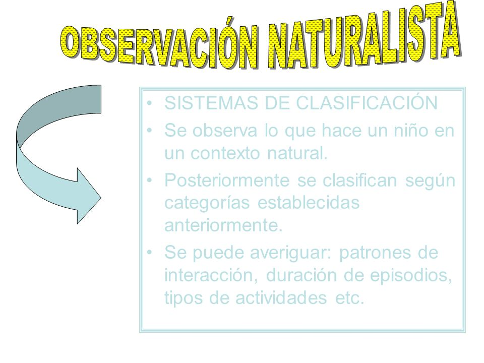 OBSERVACIÓN NATURALISTA