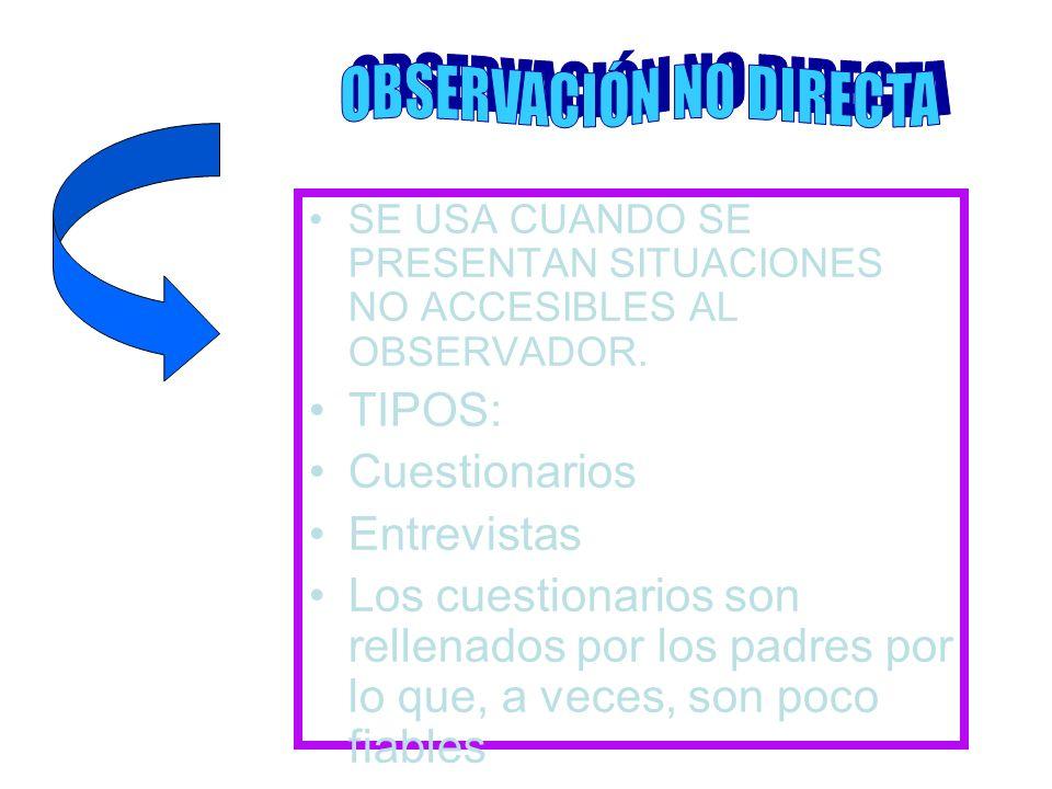 OBSERVACIÓN NO DIRECTA