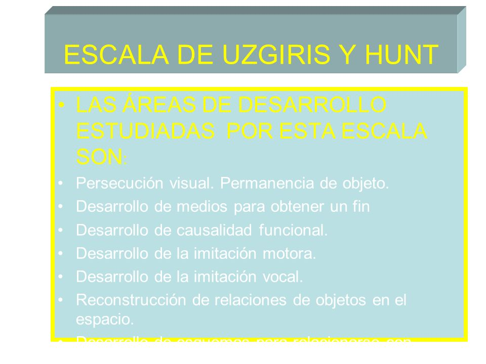 ESCALA DE UZGIRIS Y HUNT