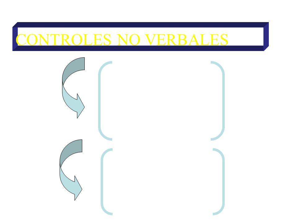 CONTROLES NO VERBALES DE ATENCIÓN Directivas Prohibitivas DE ACCIÓN