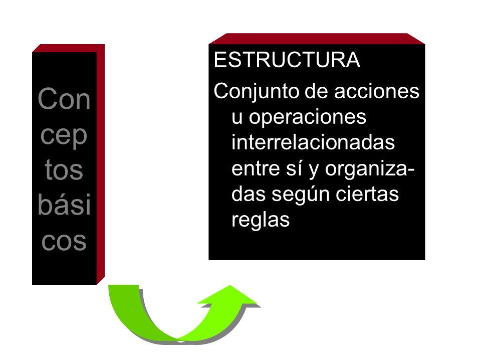 Conceptos básicos ESTRUCTURA