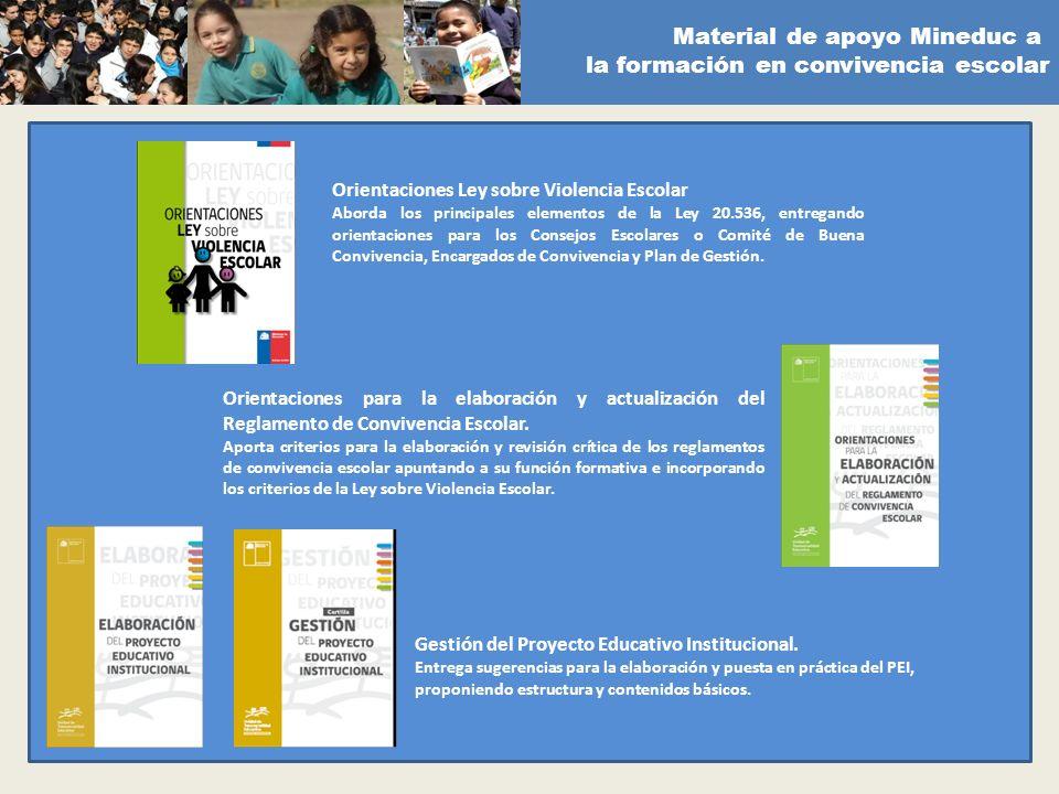 Material de apoyo Mineduc a la formación en convivencia escolar