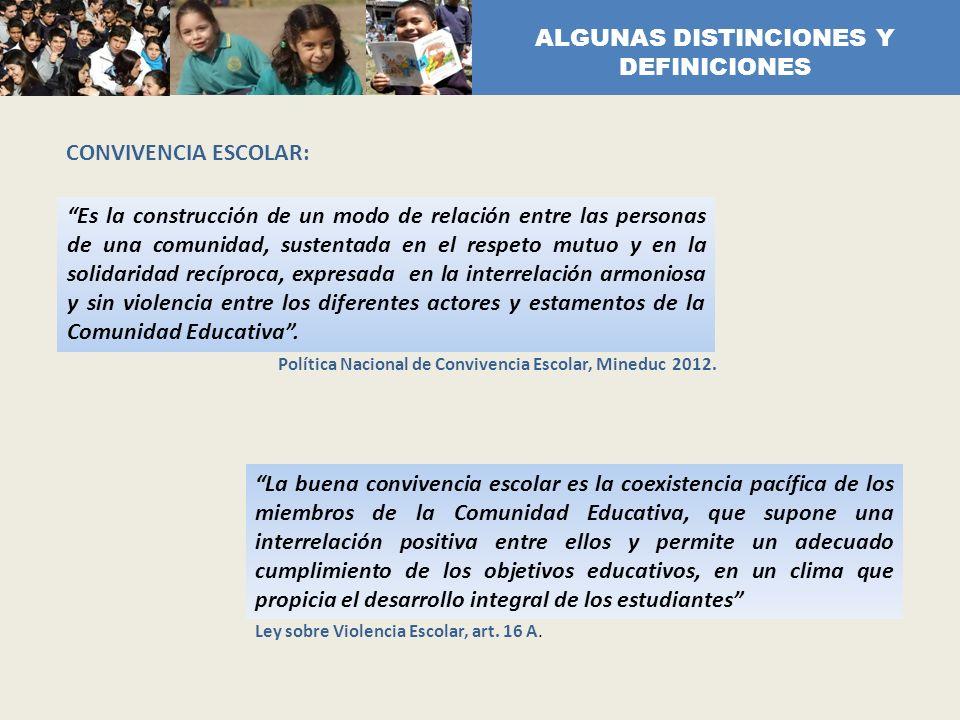 ALGUNAS DISTINCIONES Y DEFINICIONES