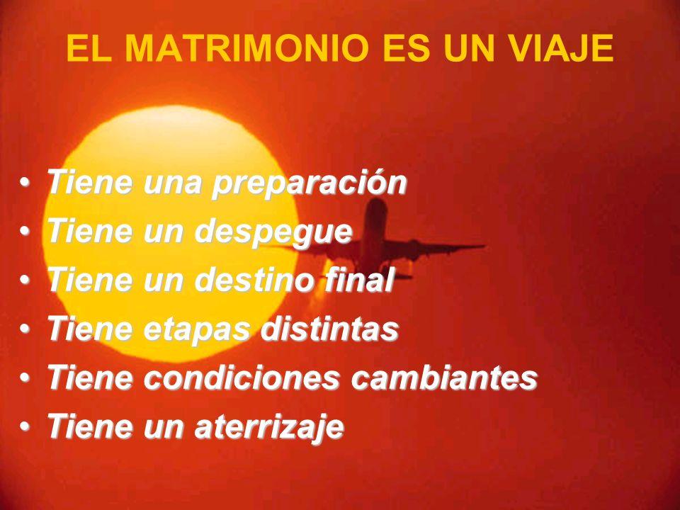 EL MATRIMONIO ES UN VIAJE