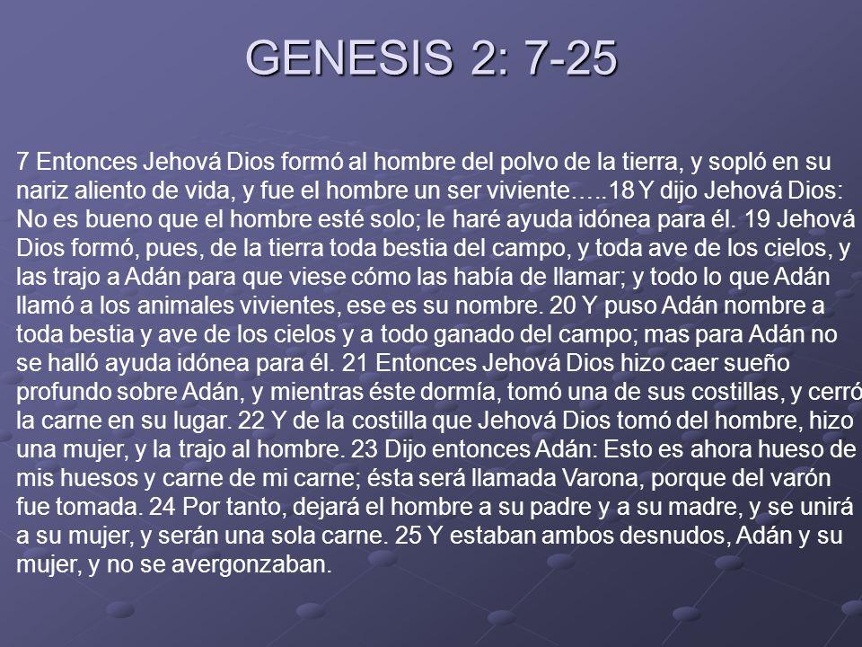 GENESIS 2: 7-25