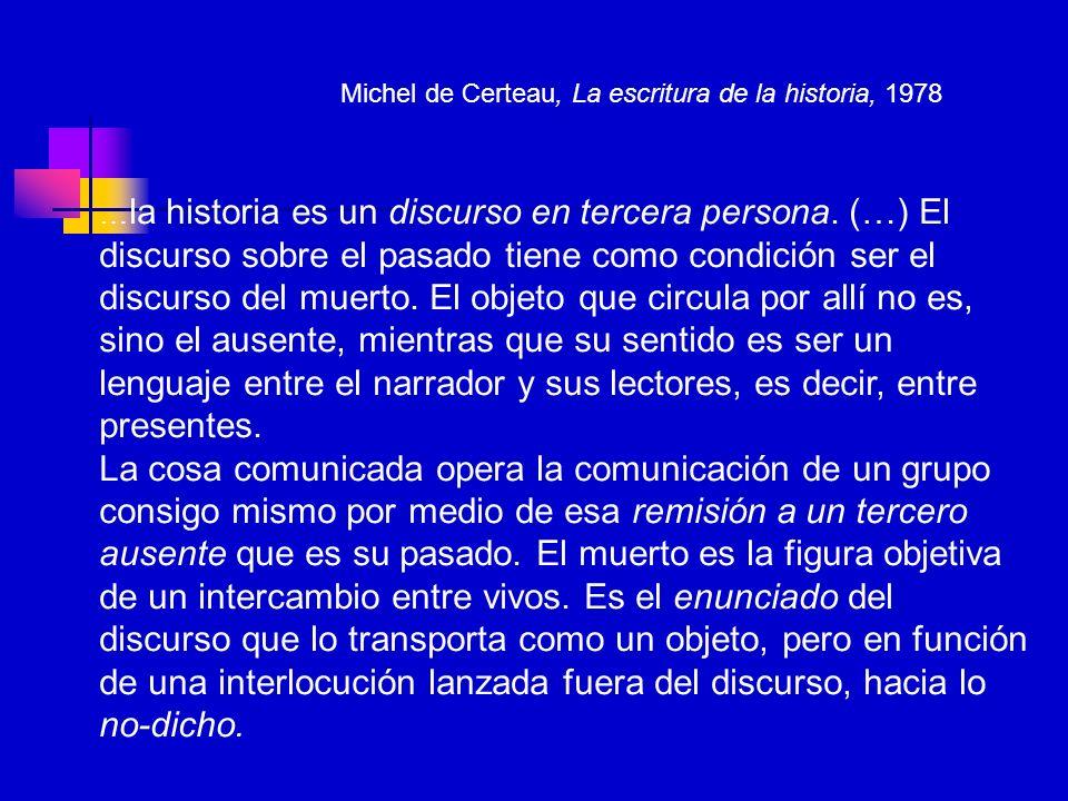 Michel de Certeau, La escritura de la historia, 1978