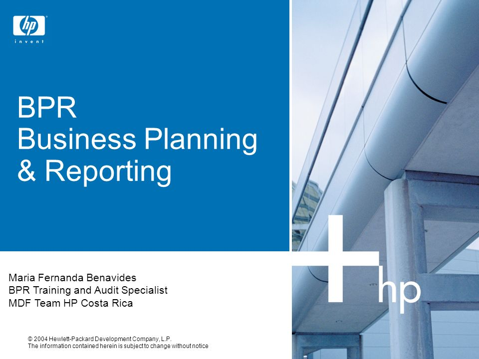 BPR Business Planning & Reporting