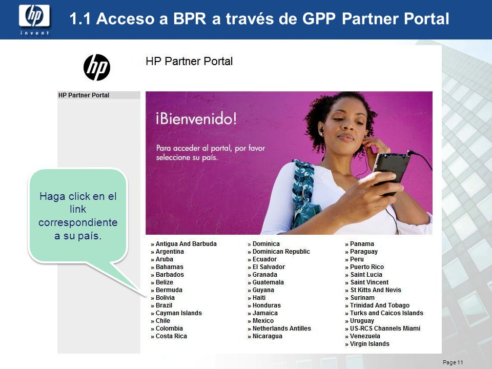 1.1 Acceso a BPR a través de GPP Partner Portal