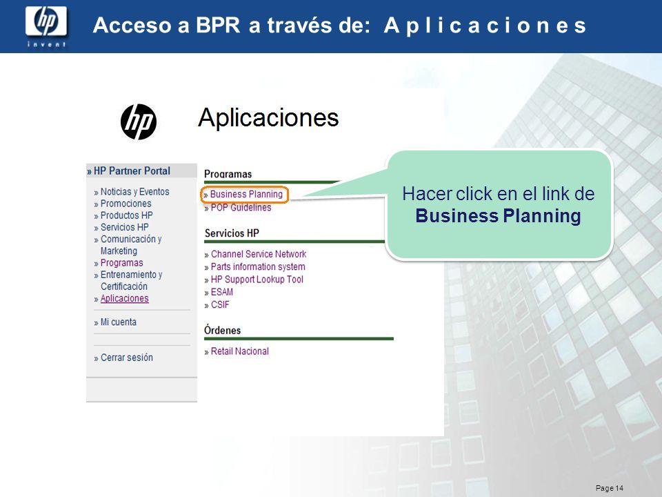 Acceso a BPR a través de: A p l i c a c i o n e s