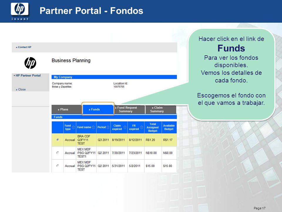Partner Portal - Fondos
