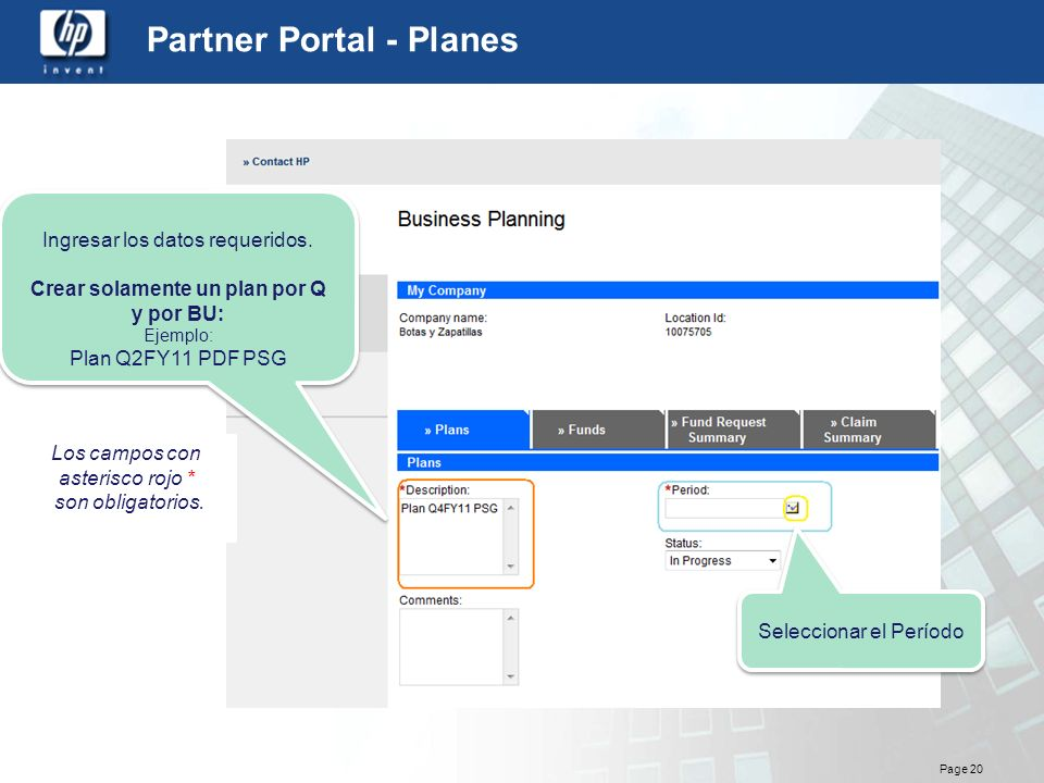 Partner Portal - Planes