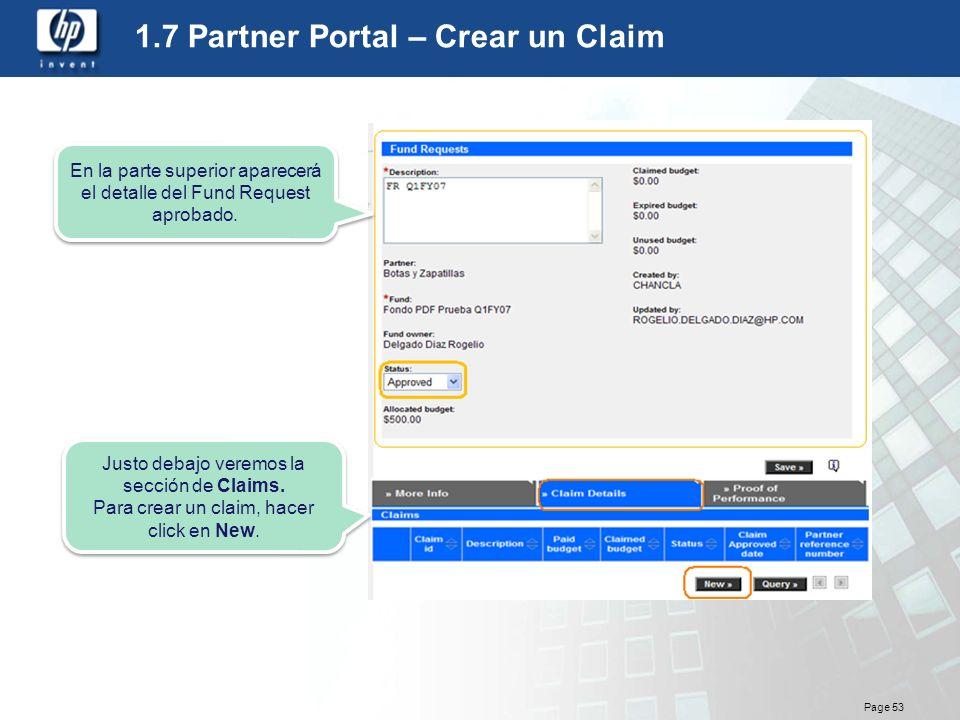 1.7 Partner Portal – Crear un Claim