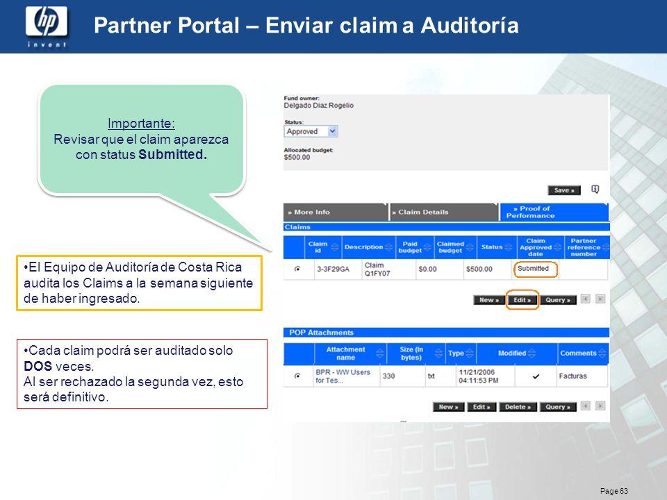 Partner Portal – Enviar claim a Auditoría