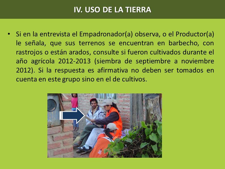 IV. USO DE LA TIERRA