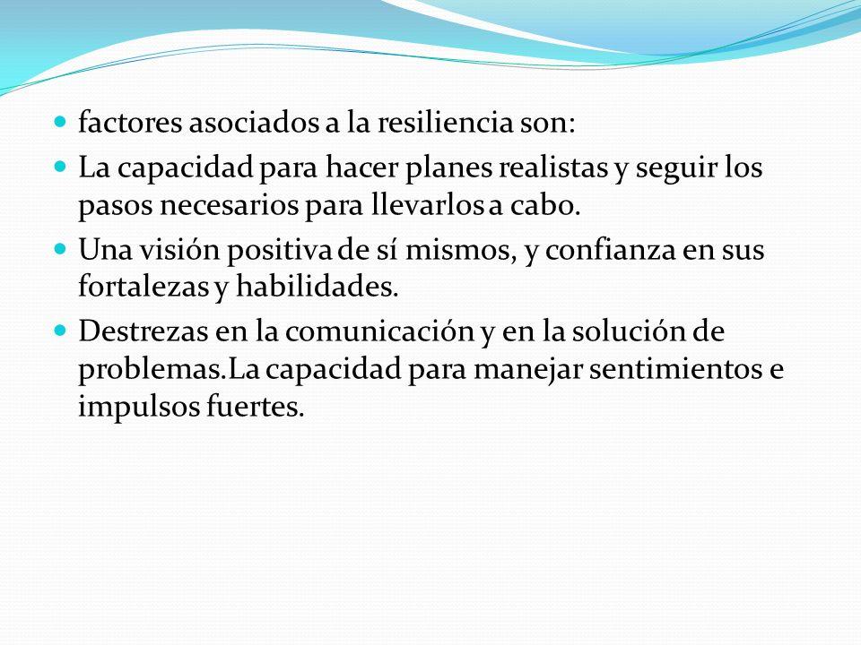 factores asociados a la resiliencia son: