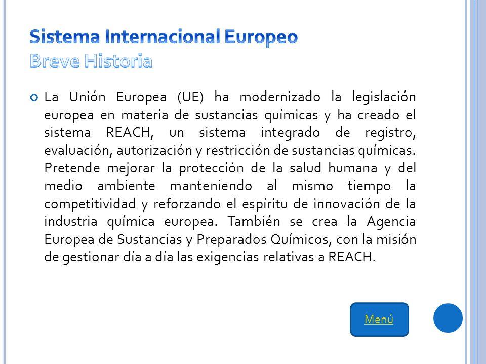Sistema Internacional Europeo Breve Historia