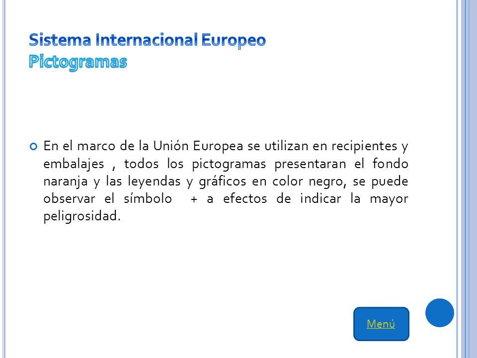 Sistema Internacional Europeo Pictogramas
