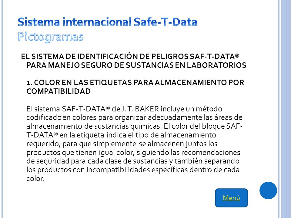 Sistema internacional Safe-T-Data Pictogramas