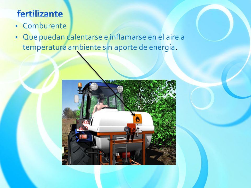 fertilizante Comburente