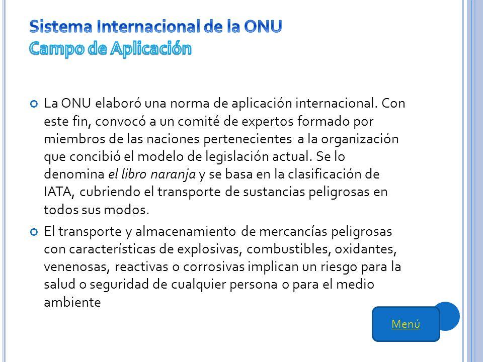 Sistema Internacional de la ONU Campo de Aplicación